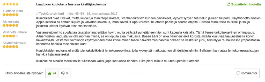 Bose QC35 Suomi kokemuksia